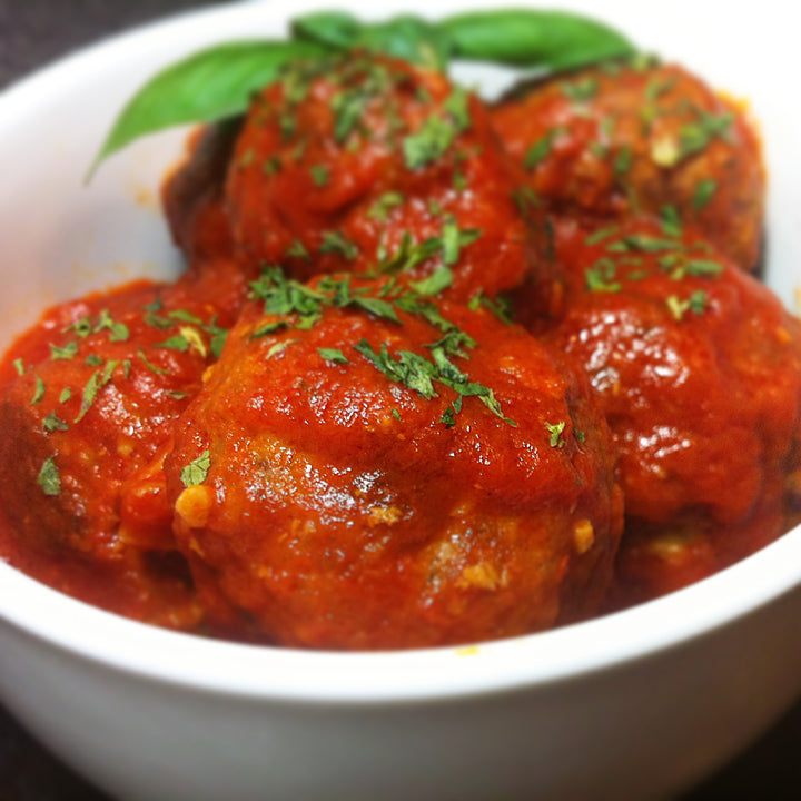 Meatballs and Sausage in Sauce