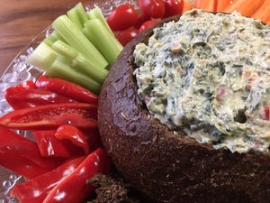 Spinach Dip in a Bread Bowl