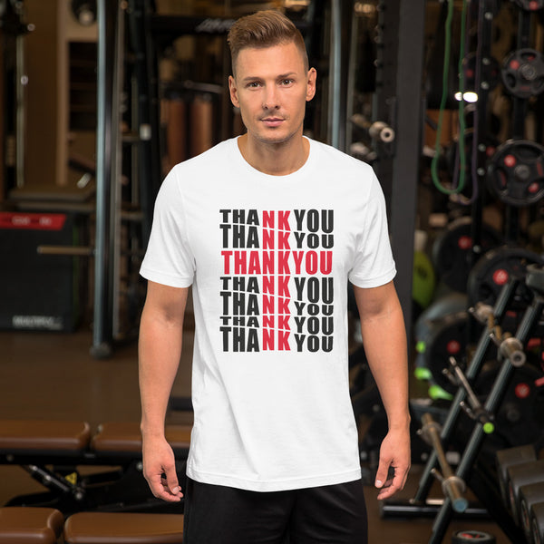 Short-Sleeve Mens Thank You Cross T-Shirt