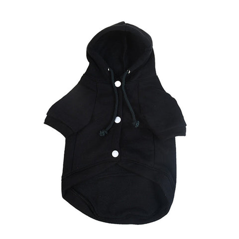 Warm Fleece Hoodie with Buttons