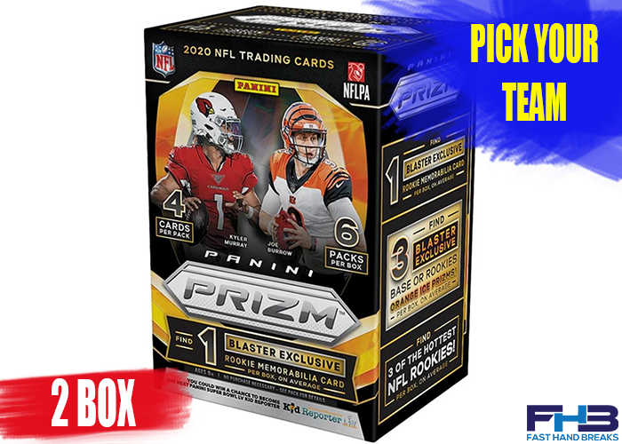 2020 Panini Prizm Football Blaster 2 Box Break - PICK YOUR TEAM - FHB013