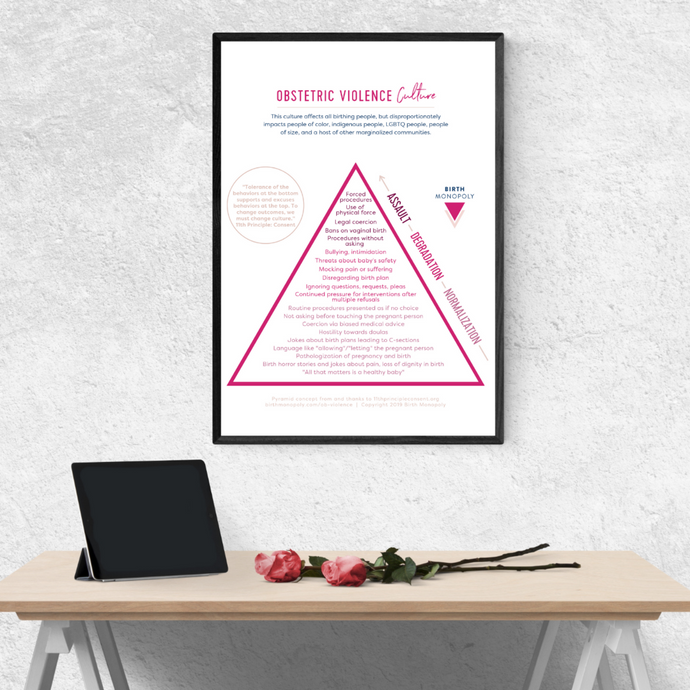 Poster: Obstetric Violence Culture Pyramid (Printed & Shipped to You)