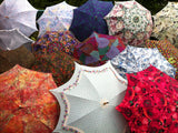 Fashion accessory umbrella, roses and ivy pattern
