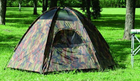 Texsport Camouflage Three Person Hexagon Dome Tent (TS-01113) - Hahn's World of Surplus & Survival