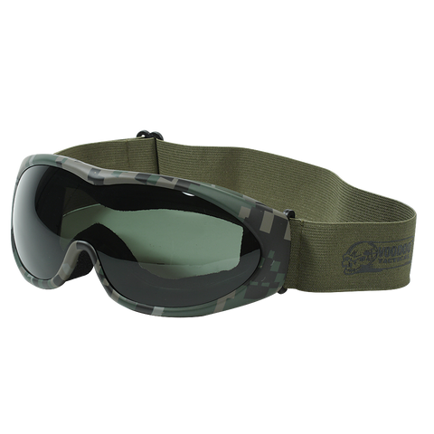Voodoo The Grunt Googles - Green Digital Frame/Black Lens (V-02-8831) - Hahn's World of Surplus & Survival