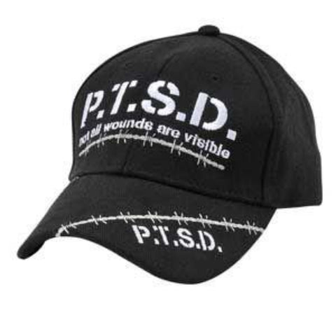 Ballcap - PTSD Not All Wounds Are Visible - Black