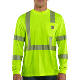 Carhartt T-Shirt - Force High-Visibility Long-Sleeve Class 3 - Lime (CH-100496-323)