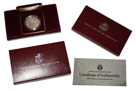 SALE Genuine 1988 U.S. Mint Olympic Coin - Silver (100MOM-COIN1)
