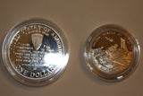 SALE Genuine WWII 50th Anniversary (2) Coins Proof - Silver (101MOM-COIN2)
