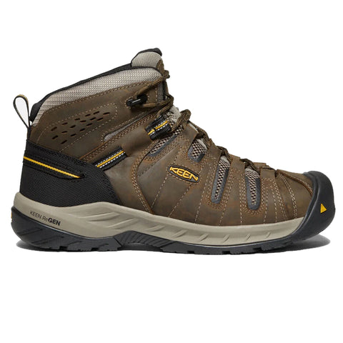 KEEN Boots - Men's Flint II Boot (Steel Toe) Cascade Brown 1023252