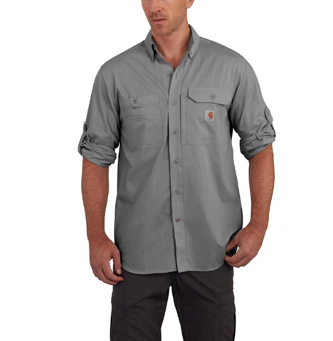 Carhartt Shirt - Force Ridgefield Solid Long Sleeve - Asphalt (CH-102418-066)