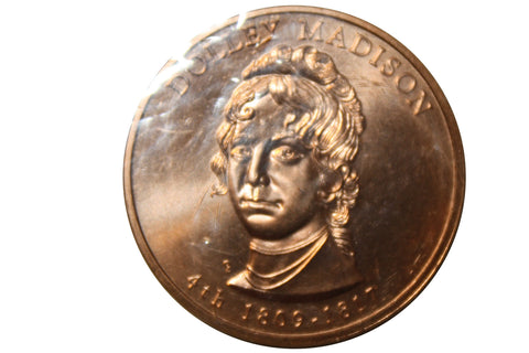 2007 Dolly Madison Liberty Medal- 4th Spouse Coin- Bronze (166MOM-COIN)