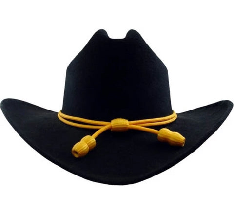 Western Hat - Black  w/Calvary Braid