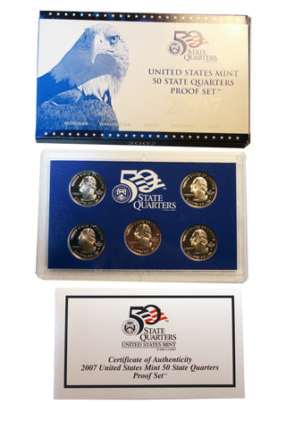 2007 S U.S. Mint Quarters Proof Set (202MOM-COIN)