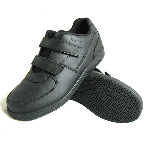 Genuine Grip Men's Velcro Black Shoe (GG-2030) - Hahn's World of Surplus & Survival