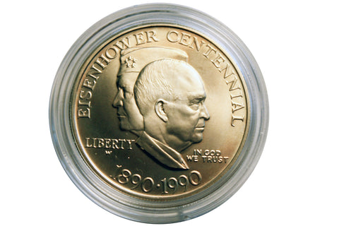 1990 Eisenhower Centennial Commemorative Proof Silver Dollar (206MOM-COIN)