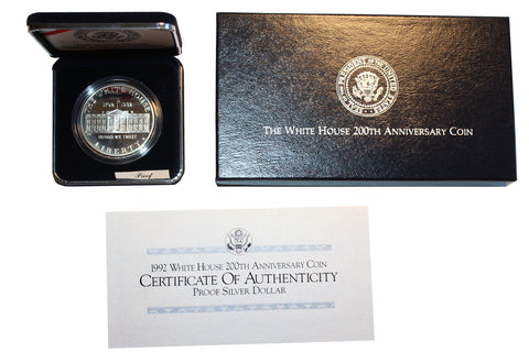 SALE 1992 White House 200th Anniversary Proof Silver Dollar