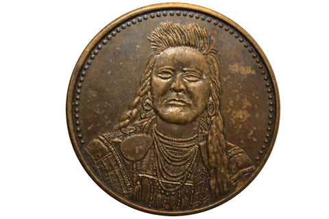 Native American Plenty Coups-Crow Coin