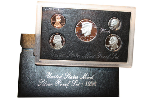 1996 U.S. Mint Coins Silver Proof Set