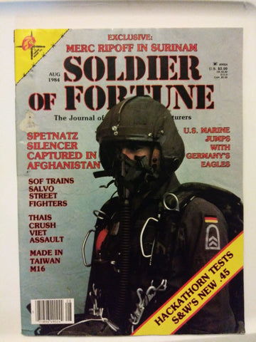 Vintage Soldier of Fortune Magazine - Spetnatz Silencer Captured... 1984 (28HWS-SOFMAG)
