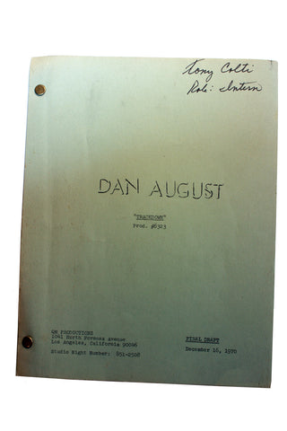 "SALE 1970 Original Script #6323 Dan August ""Trackdown"""