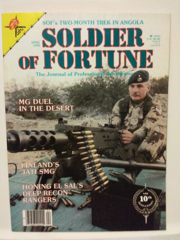 Vintage Soldier of Fortune Magazine - MG Duel in the Desert 1985 (29HWS-SOFMAG)