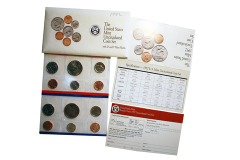 1992 US Uncirculated Coin Set