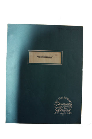 "SALE 1967 Original Script ""The Frontiersman"""
