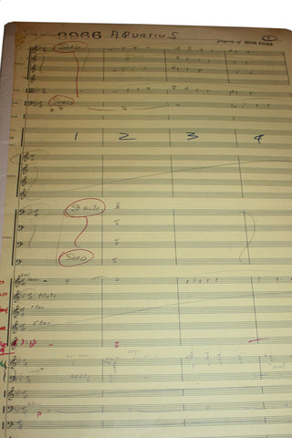 SALE Original Handwritten Music Score (Performing Notes)- Aquarius