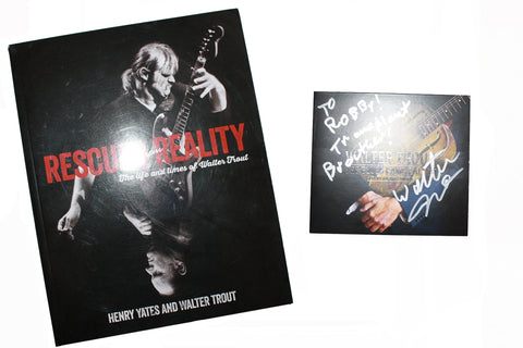 "SALE Signed Walter Trout ""Blues Came Callin"" and Rescued F/Reality"