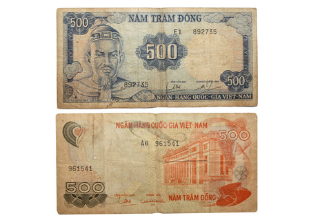 Việt Nam Bank Notes 500 (2) (407MOM-C)