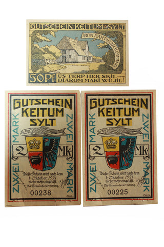 Gutschein Keitum Sylt Bank Notes (3) (411MOM-C)