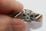 Vintage German WWI  Iron Cross Ring w/W