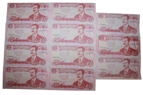 Iraq 5 Dinar /Saddam Hussein, Emergency Bank Note UNC (11)