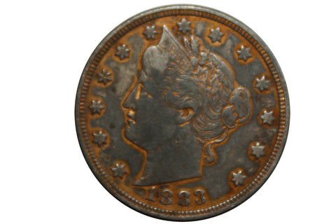 "1883 Liberty ""V"" Nickel - No Cents Coin"