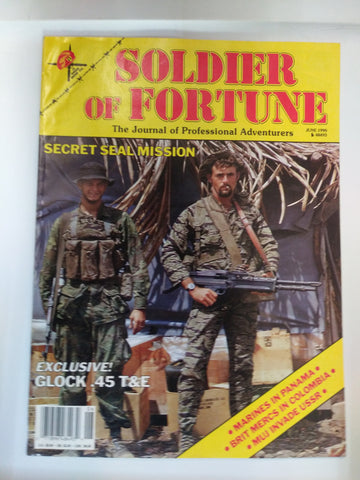 Vintage Soldier of Fortune Magazine - Secret Seal Mission 1990 (50HWS-SOFMAG)