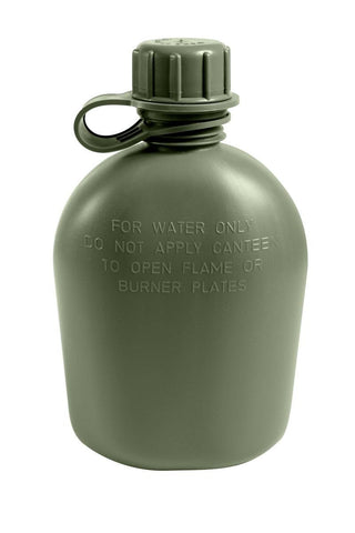 Hayes Military 1qt Plastic Canteen (HT-5000) - Hahn's World of Surplus & Survival - 1