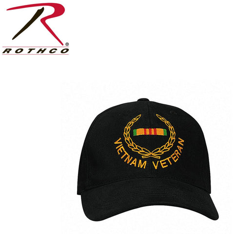 Rothco Insignia Cap / Vietnam Veteran - Black (R-5320) - Hahn's World of Surplus & Survival