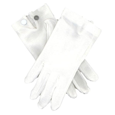 Gloves - Snap Wrist - White Cotton (VG-5800)