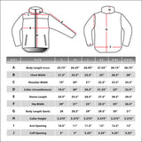 Condor ALPHA Micro Fleece Jacket Size Chart