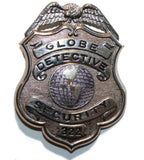 Obsolete Badge - Globe Detective Security #322