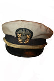 U.S. Navy Lt. Commander Khaki Officer's Complete Combination Cap