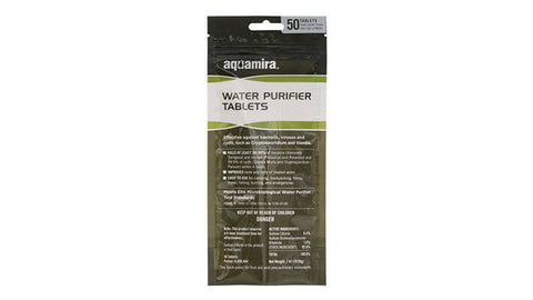 Aquamira Water Purifier Tablets 20/50 Pack (67406/7)