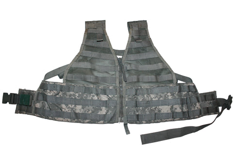 Used US Military MOLLE II Army ACU FLC Fighting Tactical Vest Carrier  (669HWS-V)