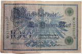 Vintage Pre WWI  Reichsbanknote 100 Mark 7th February 1908