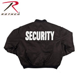 "Rothco ""Security"" MA-1 Flight Jacket (R-7357/58/59) - Hahn's World of Surplus & Survival - 2"