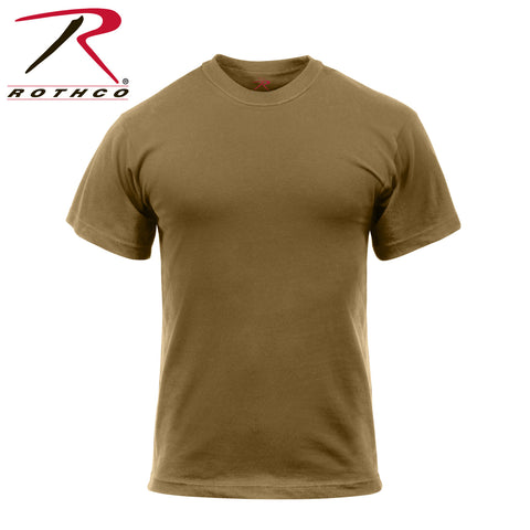 T-Shirt - Solid Color 100% Cotton - Brown