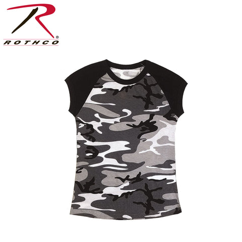 Rothco Womens Camo 2-Tone Raglan T-Shirt City Camo (R-8036) - Hahn's World of Surplus & Survival