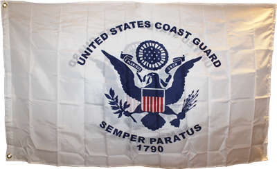 Ruffin Coast Guard 3'x5' Printed Double Sided Polyester Flag (R-834460) - Hahn's World of Surplus & Survival