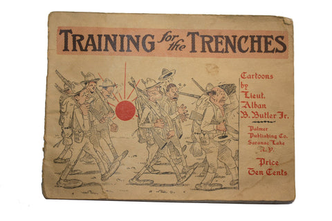 Rare 1917 Training for the Trenches - Cartoons - Book